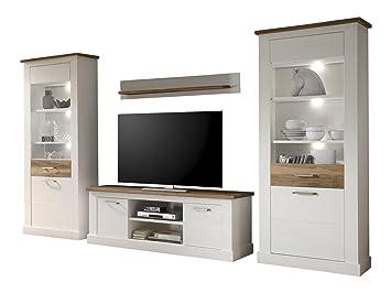 trendteam wohnzimmer 4 teilige set kombination toronto 340 x 210 x 52 cm in