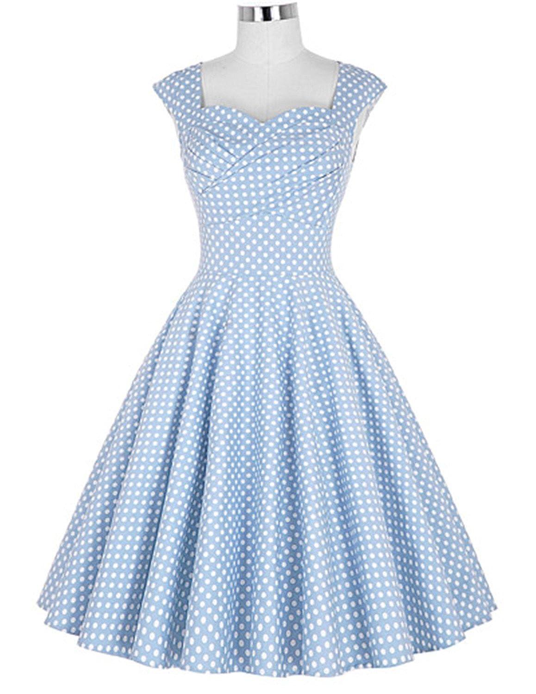 4 Aworth Long Women Dresses Vestidos Femininos Large Size Sleeveless 50S 60S Vintage Rockabilly Dress