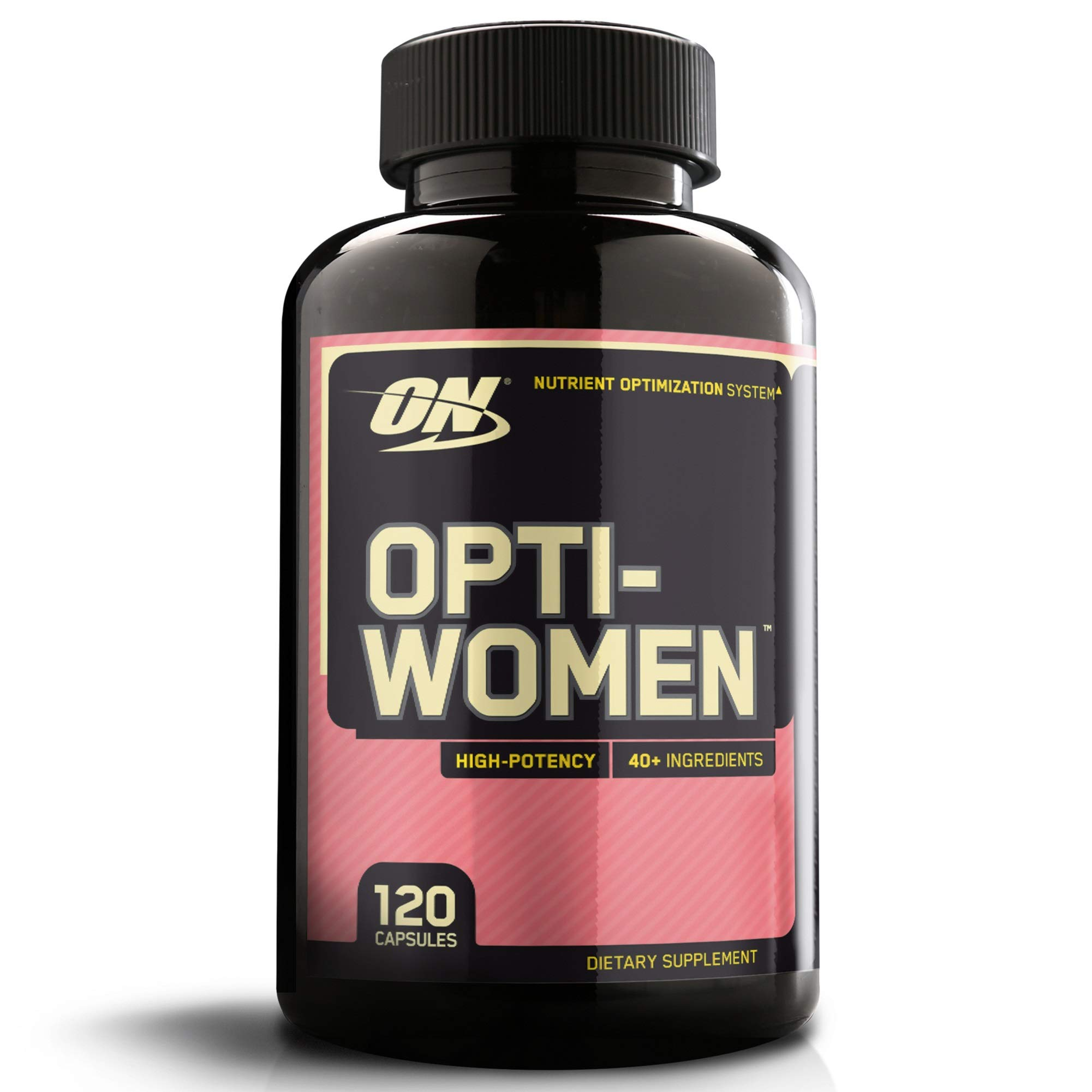 OPTIMUM NUTRITION Opti-Women, Womens Daily Multivitamin Supplement with Iron, Capsules, 120 Count by Optimum Nutrition