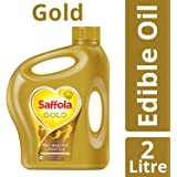 Saffola Gold, Pro Healthy Lifestyle Edible Oil, 2 L Jar