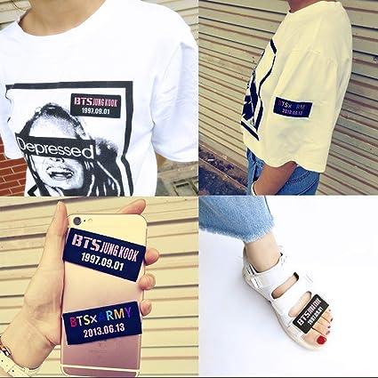 Amazon com : eKoi Kpop BTS DIY Self Stick Iron Sew On Velcro