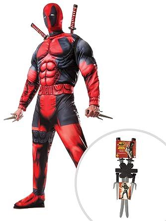 Amazon.com: Deadpool Costume Kit Adult Standard with Dragon ...