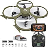 Kolibri U818A Wi-Fi Discovery Delta-Recon Quadcopter Drone Tactical Edition with 720p HD Camera (Military Matte Drab Green)