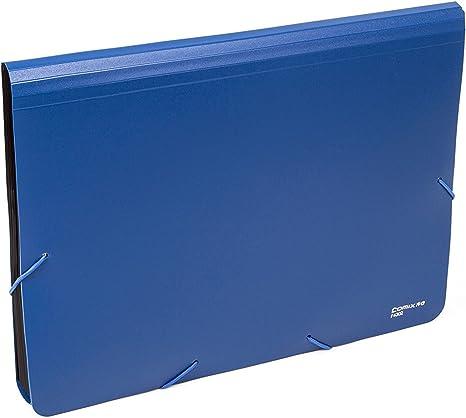 Carpetas Plastico A4 Extensible Port/átil Archivo Organizador Puede Contener 400 Hojas 12 Bolsillos 2 Tarjeteros Impermeable Respetuoso del Medio Ambiente Negro