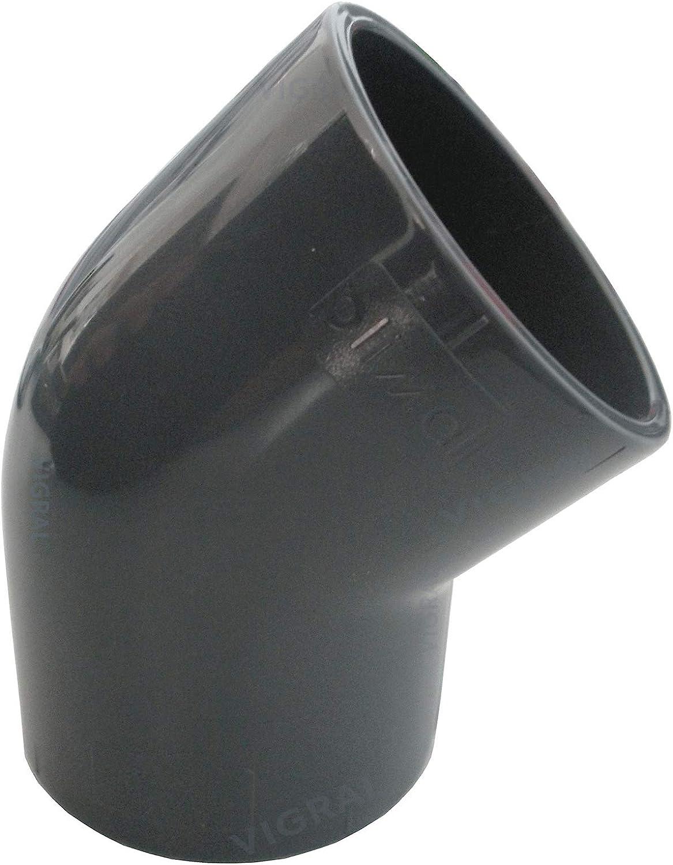 Rohr-Verbinder 90° PVC Fitting Bogen Ø 75 mm Klebemuffe Teichbau Filter