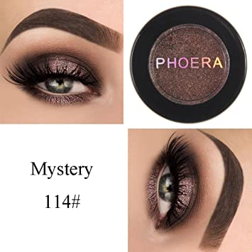 HP95(TM) PHOERA Eyeshadow Glitter Shimmering Colors Bright Metallic Eye Makeup Cosmetic (N