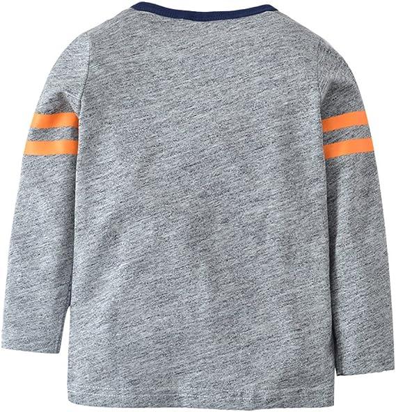 Snyemio T-Shirt /À Manches Longues Gar/çon Coton Casual Top