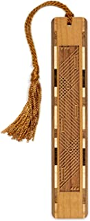 product image for Harp Strings Engraved Wooden Bookmark with Copper Tassel