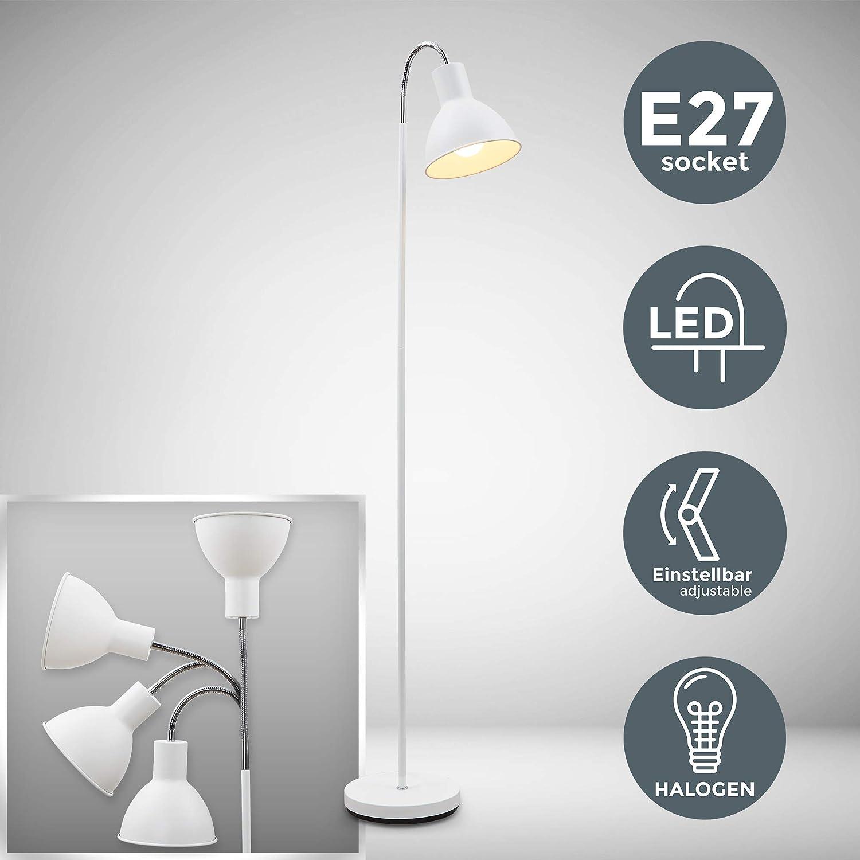 B K Licht I Schwenkbare Stehlampe I E27 Fassung Max 25w I 1