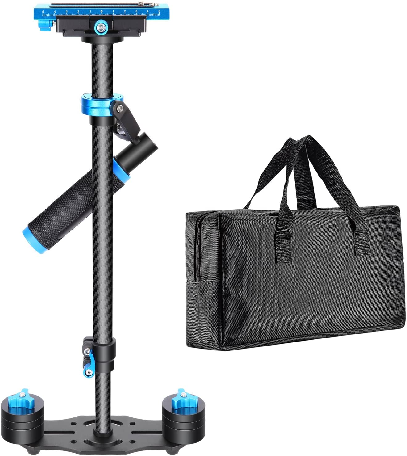 """Neewer Carbon Fiber 24""""/60cm Handheld Stabilizer with Quick Release Plate 1/4"""" and 3/8"""" Screw for DSLR and Video Cameras up to 6.6lbs/3kg"""