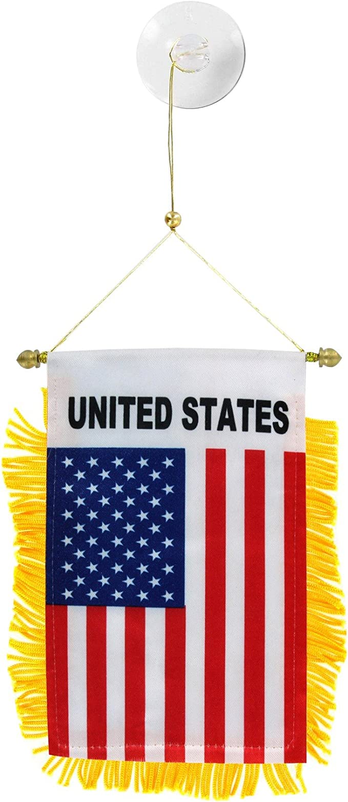 "USA American Flag Mini Banner 4/""x6/"""