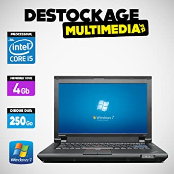 Lenovo Thinkpad L412 Core i5 M560 2.67 GHz 4 GB 250 GB Windows 7 Web CAM Word Excel: Amazon.es: Informática