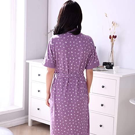 Robe Womens Summer Shorts Bathrobe Plus Size Robe Women Kimono Floral Cotton Peignoir Femme at Amazon Womens Clothing store: