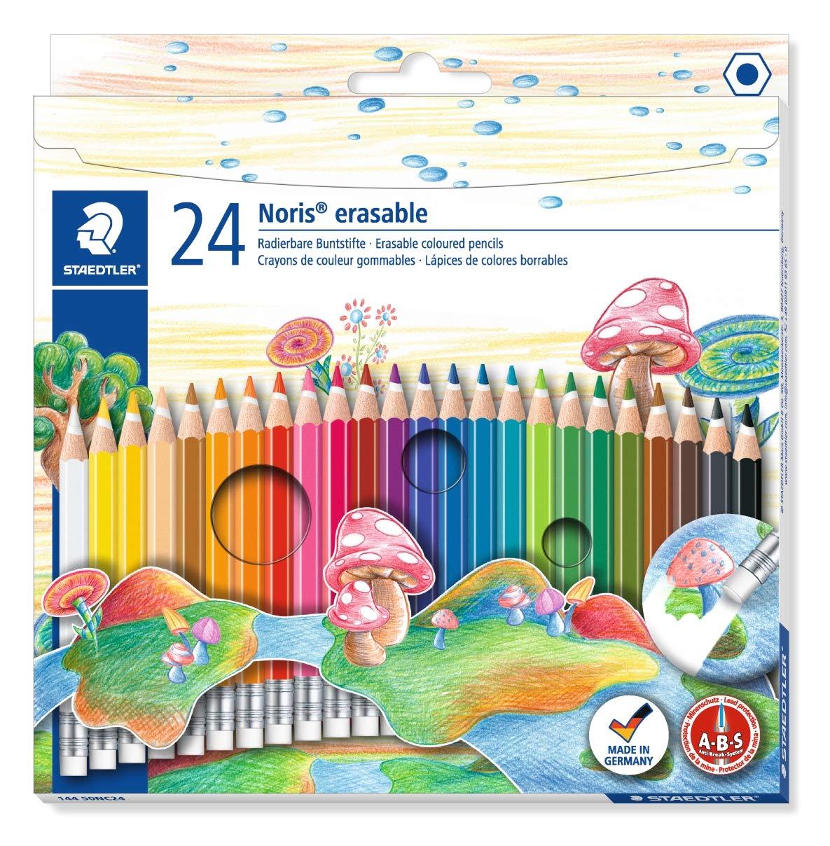 Noris Club – 24 Matite Colorate Cancellabili STAEDTLER 144 50NC24ST