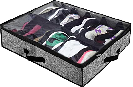 ac9e2948ac Amazon.com  Homyfort Under Bed Shoe Storage Organizer for Closet ...