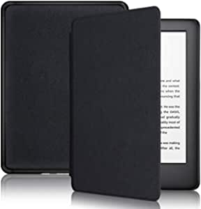 TERSELY Slimshell Case for All-New Kindle 10th Generation, 2019 Released (Model No.J9G29R), Smart Shell Cover Protective PU Leather Cover with Auto Sleep/Wake for Amazon Kindle 2019 (Black)