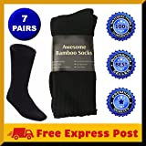 7 Pairs Awesome Bamboo Socks For Men Thick Cushion Heavy Duty Mens Hiking Work Sock