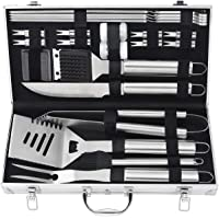 POLIGO 20pcs Barbecue Grill Utensils Kit Stainless Steel BBQ Grill Tools Set - Premium Camping Grill Accessories in…