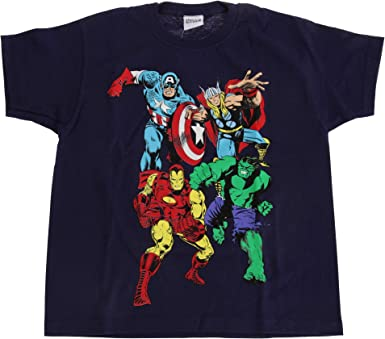 Thor Kids T-Shirt Marvel Comics LOGOSHIRT navy Childrens Tee Superhero