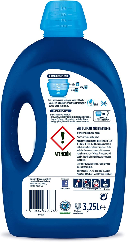 Skip Ultimate Triple Poder Máxima Eficacia Detergente Líquido para ...