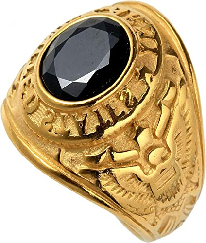 Luxury Men Stainless Steel Ring US Army Military Ring Gifts Blue Red Green Black