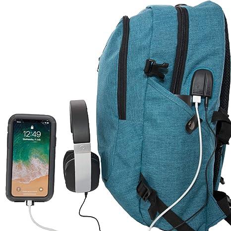 e9da17a4bc Amazon.com  Blue Gramon Anti-Theft Backpack Lockable