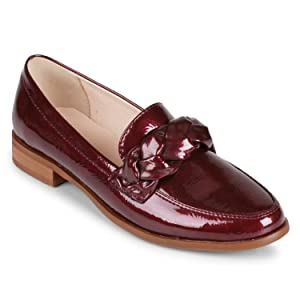 Wanted Women's Carefree Loafer Shoes (7, Burgundy Patent)