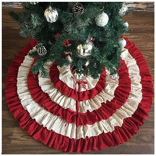AXDNH Árbol de Navidad Faldas, Ropa de Cama de Primera Calidad de ...