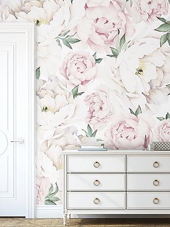 watercolor pink peonies mural watercolor peony wallpaper mural peony floral wallpaper
