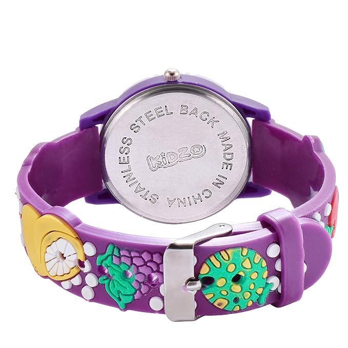 Kidzo Strawberry & Friends Purple Kids Analog Wrist Watch with 3D Strap