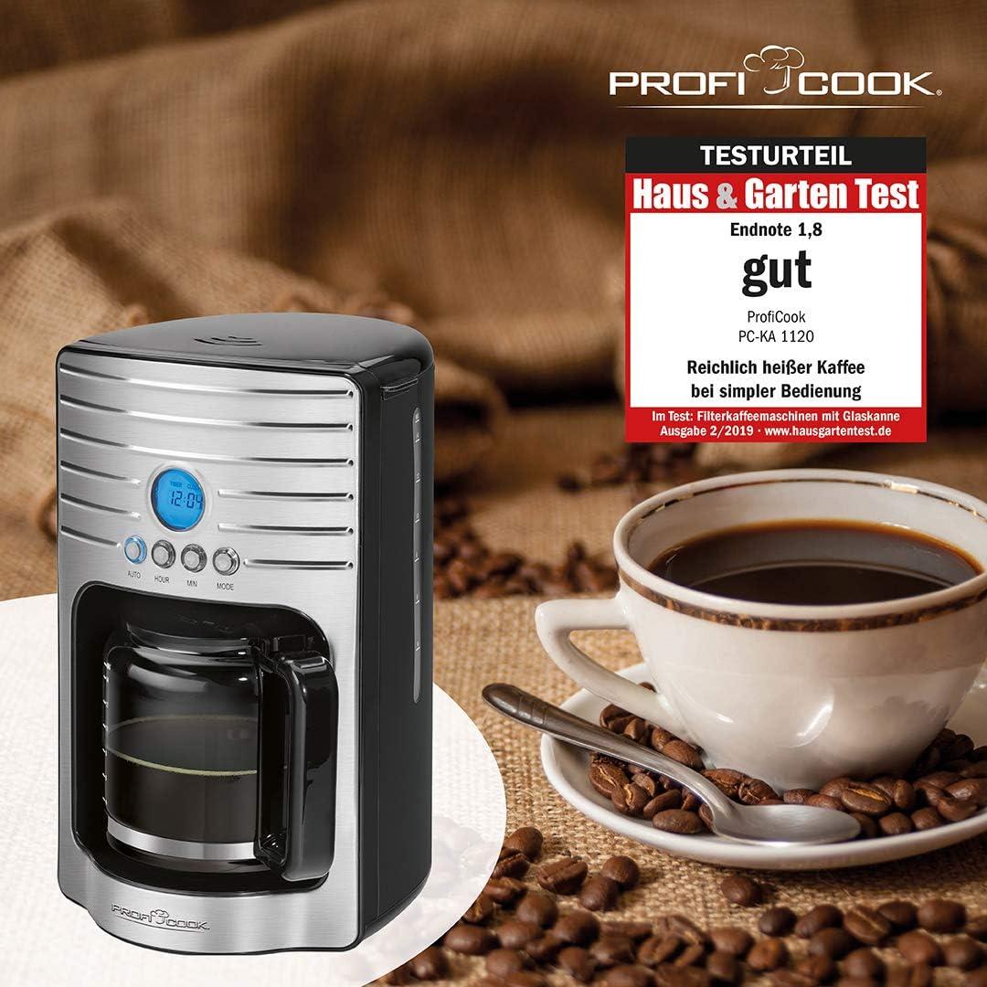 ProfiCook Cafetière électrique machine à espresso PC-KA 1120 1000 W 1,7 L