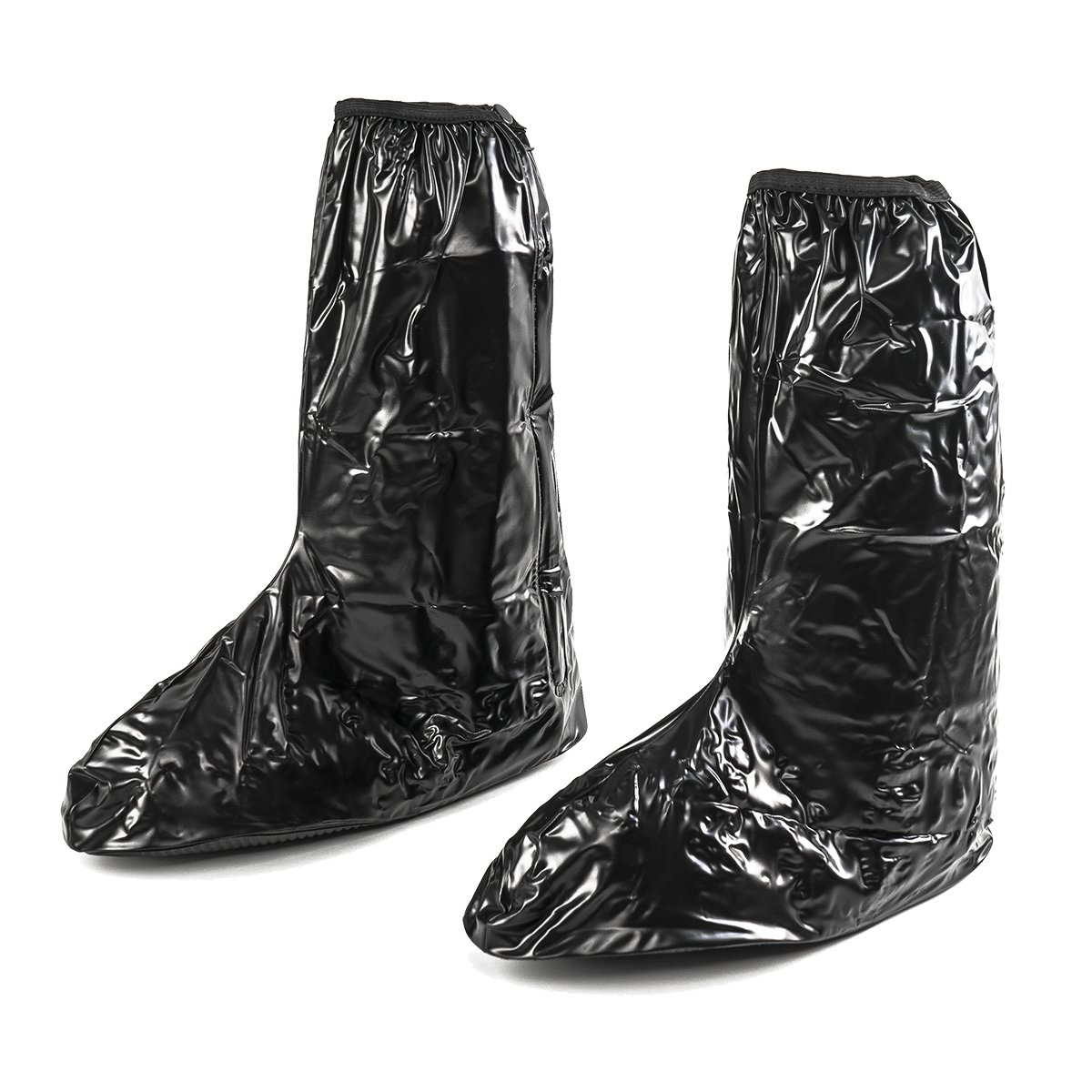 KT-Global Hot Black Waterproof Motor Rain Boots Outdoor Motorcycle Cycling Protective Gear Bike Riding Rain Boot Shoe Cover Anti Slip Anti-skid Footwear (Black2)