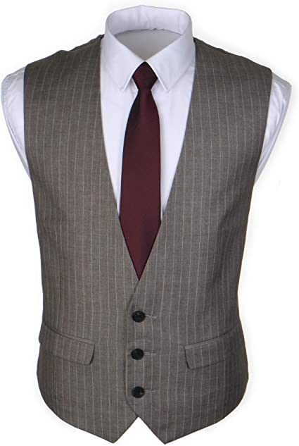 Ruth/&Boaz Mens 2Pockets 5Buttons Pin Stripe Business Suit Waistcoat
