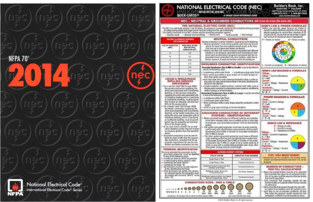 NFPA 70: National Electrical Code (NEC) Paperback (Softbound) and QUICK-CARD: National Electrical Code (NEC) 2014