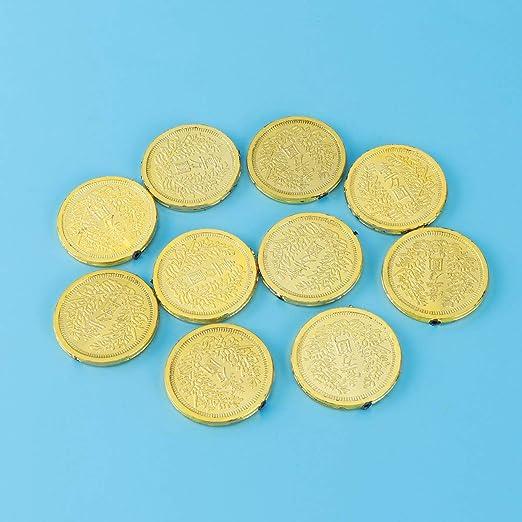 3 Sets Piratas Monedas de Oro Juego de Juguetes de pl/ástico de divisas Prips Chips Playset Favor de Fiesta para ni/ños BESTOYARD 72pcs