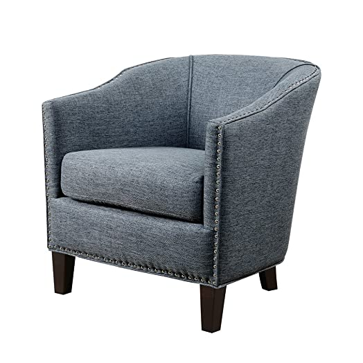 Madison Park Barrel Arm Chair Fremont Slate Blue