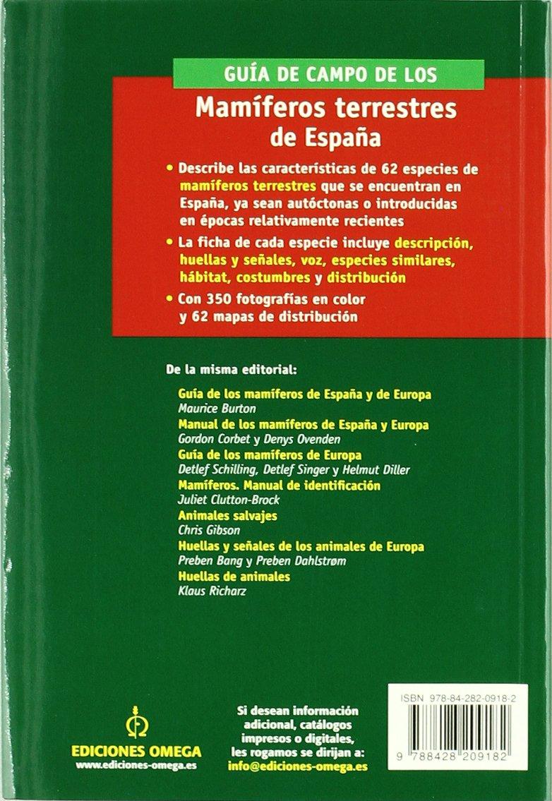 GUIA CAMPO MAMIFEROS TERRESTRES ESPAÑA GUIAS DEL NATURALISTA ...