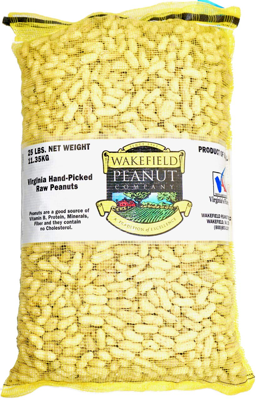 Virginia Peanuts Bulk Inshell Animal Peanuts for Squirrels, Birds, Deer, Pigs and a Wide Variety of Wildlife, 25LB Bag/Raw Peanuts/Bulk Nuts/Blue Jays/Cardinals/Woodpeckers/Parrots/Doves