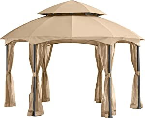 Garden Winds Replacement Canopy for The Heritage Dome Gazebo - Standard 350 - Beige