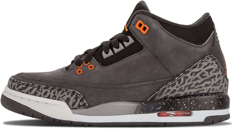 Nike AIR Jordan 3 Retro (GS) - Fear 3 Pack - Night Stadium/Total Orange-Black-Neutral Grey (4)