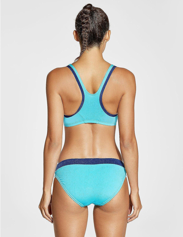 SYROKAN Donna Sportivo Bikini Due Pezzi Costumi da Bagno Imbottito Racerback