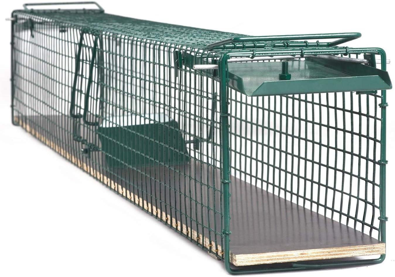 100cm Katzenfalle Waschbärfalle Lebendfalle Falle Kastenfalle Tierfalle #63#