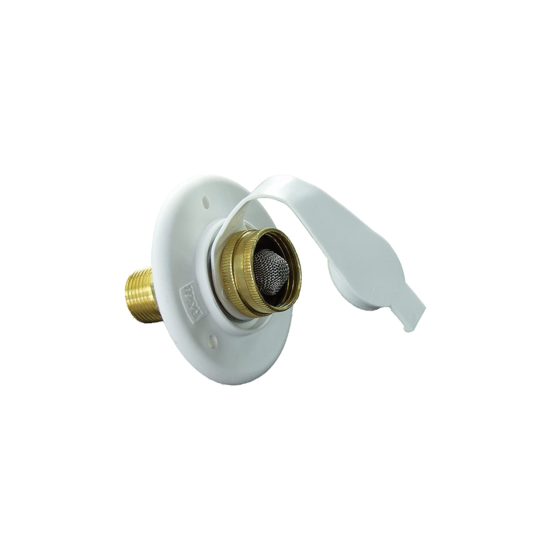 JR Products 160-85-A-2Z-A Polar White Brass Check Valve Flusher Water Inlet