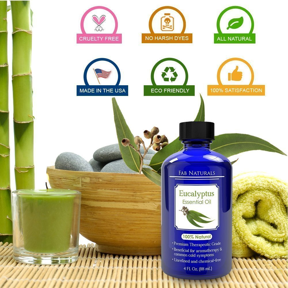 Eucalyptus Essential Oil 4oz - Premium Therapeutic Grade, for Diffuser, Humidifier, Sauna, Steam room, Shower, 100% Pure - by Fab Naturals by Fab Naturals (Image #4)