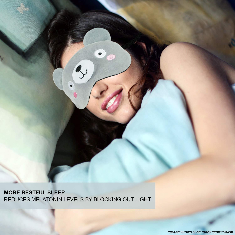 TOSKATOK - Máscara de dormir para mujer, divertida con diseño de animales, para viajes, dormir, con almohadilla de gel de refrigeración para un sueño ...