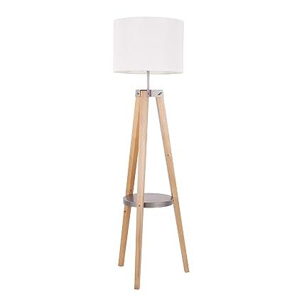 Amazon Com Mid Century Modern Floor Lamp With Shelf Office