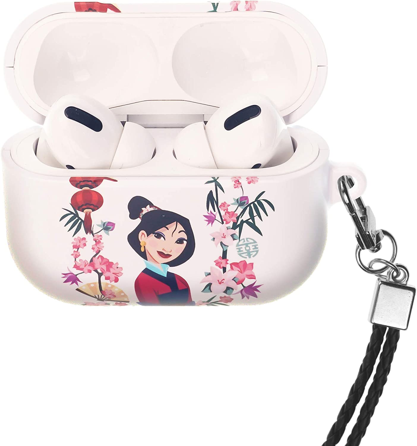 Accessories Compatible with Apple Airpods Pro Goofy AirPods Pro Case with Neck Lanyard Hard PC Shell Strap Hole Cover Front LED Visible Face Goofy