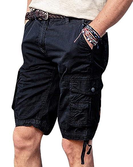 Pantalones Cortos Para Hombres Pantalones Cortos De Verano Largas De Algodon Pantalones Informales Cargo Combatir Tres Cuartos Bermuda Kungfuchile Cl