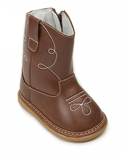 95b5985342f Amazon.com | Wee Squeak Baby Brown Cowboy Boot | Boots