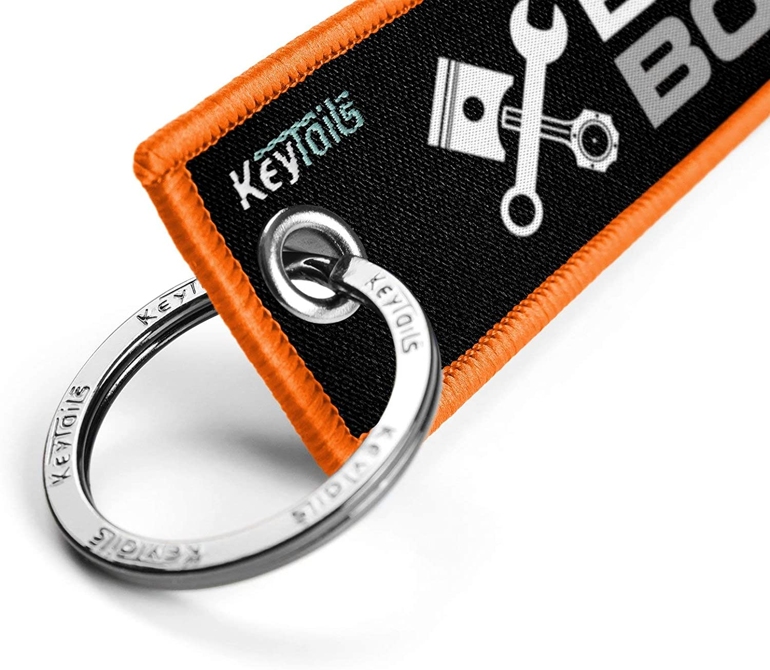 Premium Quality Key Tag for Motorcycle KEYTAILS Keychains Car UTV Built Not Bought ATV Scooter